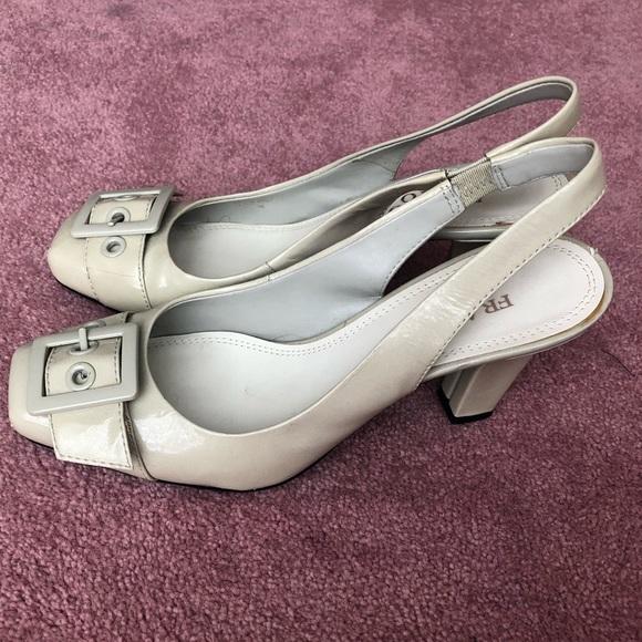 Franco Sarto Shoes - Franco Sarto Ecru Leather Slingback